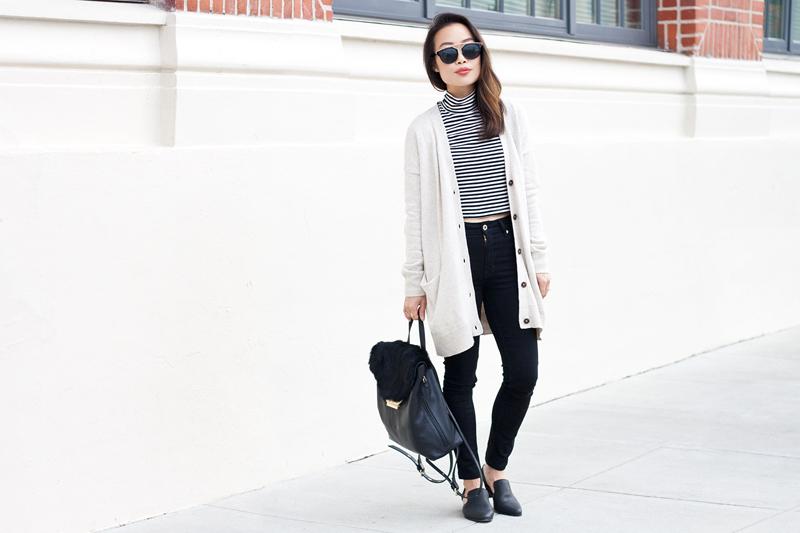 01-fur-backpack-black-white-stripes-cardi-denim-sf-style-fashion