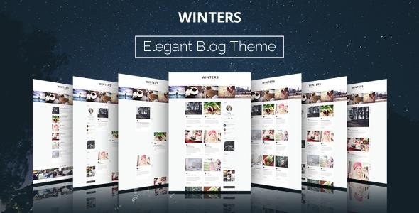 ThemeForest Winters v1.4.3 – A Responsive WordPress Blog Theme