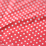 red & white spot fabric