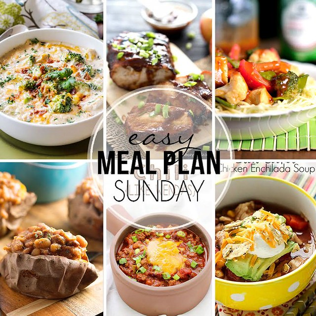 Week 31. Collaborative weekly meal planning. 9 bloggers. 6 dinner ideas, one-weekend breakfast plus 2 desserts every single week equals one heck of a delicious menu!