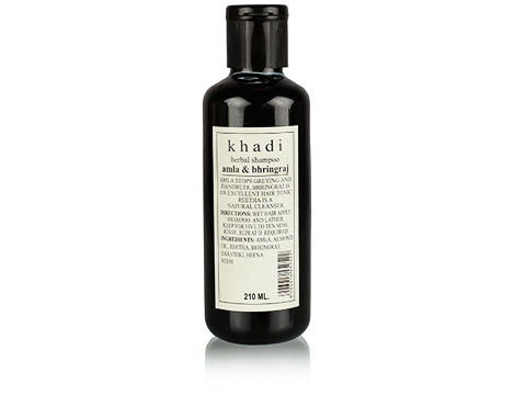 Best Shampoo for hair fall control in india -khadi_amla_and_bhringraj