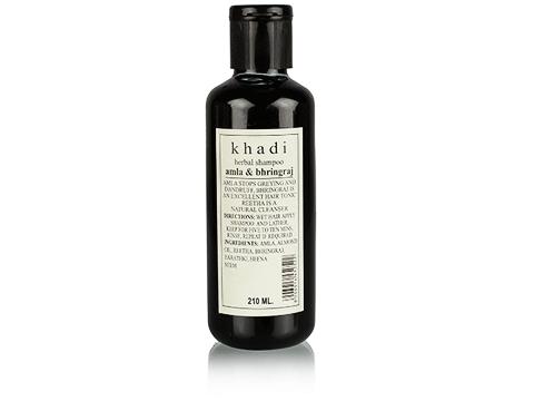 Best Shampoo for hair fall control in india -khadi_amla_and_bhringraj