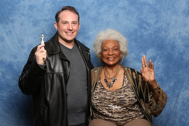 My photo with Nichelle Nichols courtesy of Christopher Erickson