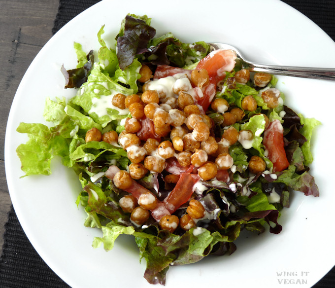 Salad with Roasted Chickpeas