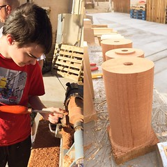 A good day in the sun with my son learning  to turn with the #lathe #wood #woodworking #family #goodstuff #Weekend . Thanks Dave for the lesson