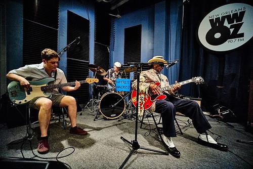 Little Freddie King's band. Photo by Eli Mergel