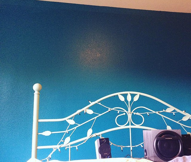 Painting the bedroom. This teal makes us both really happy. 💙