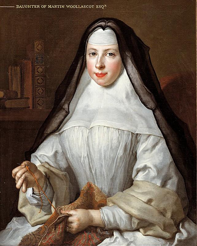 Nicolas de Largillière - Frances Woollascott, an Augustinian Nun (1729)