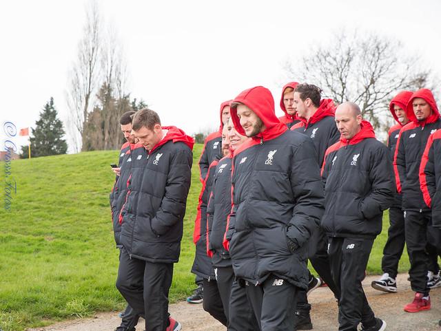 Liverpool FC pre League Cup Final walk