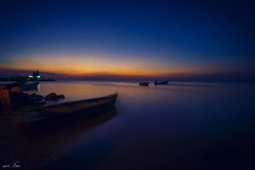 longexposure sunset seascape boats twilight nikon dusk calm tokina waterloo trinidad trinidadandtobago templeinthesea 1116mm d5200 uploaded:by=instagram