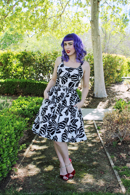 Trashy Diva Annette Dress in Zebra Bows Rockabilly Baby Annie dress in Zebra Bows