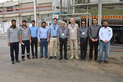 Mr. Carsten Mueller and Wajid Junejo visiting Engro Foods Plant at Sukkur