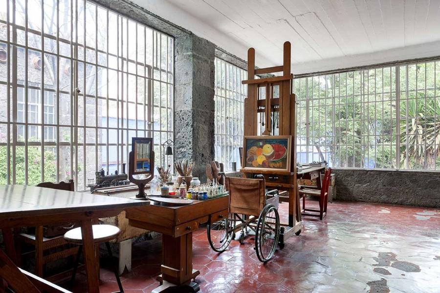 Frida Kahlo's Casa Azul in Coyoacán, Mexico
