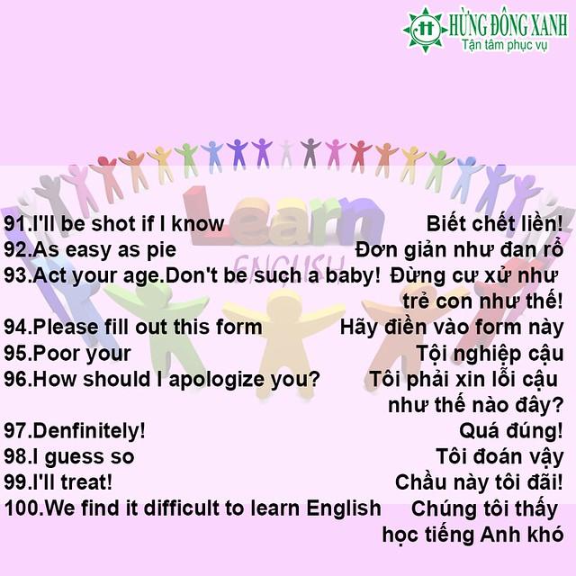 100 câu tiếng Anh thông dụng