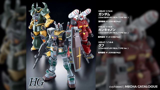 HGUC Gundam / Guncannon / Gouf [21st Century Real Types]