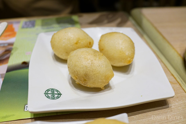 Deep fried dumplings filled with pork