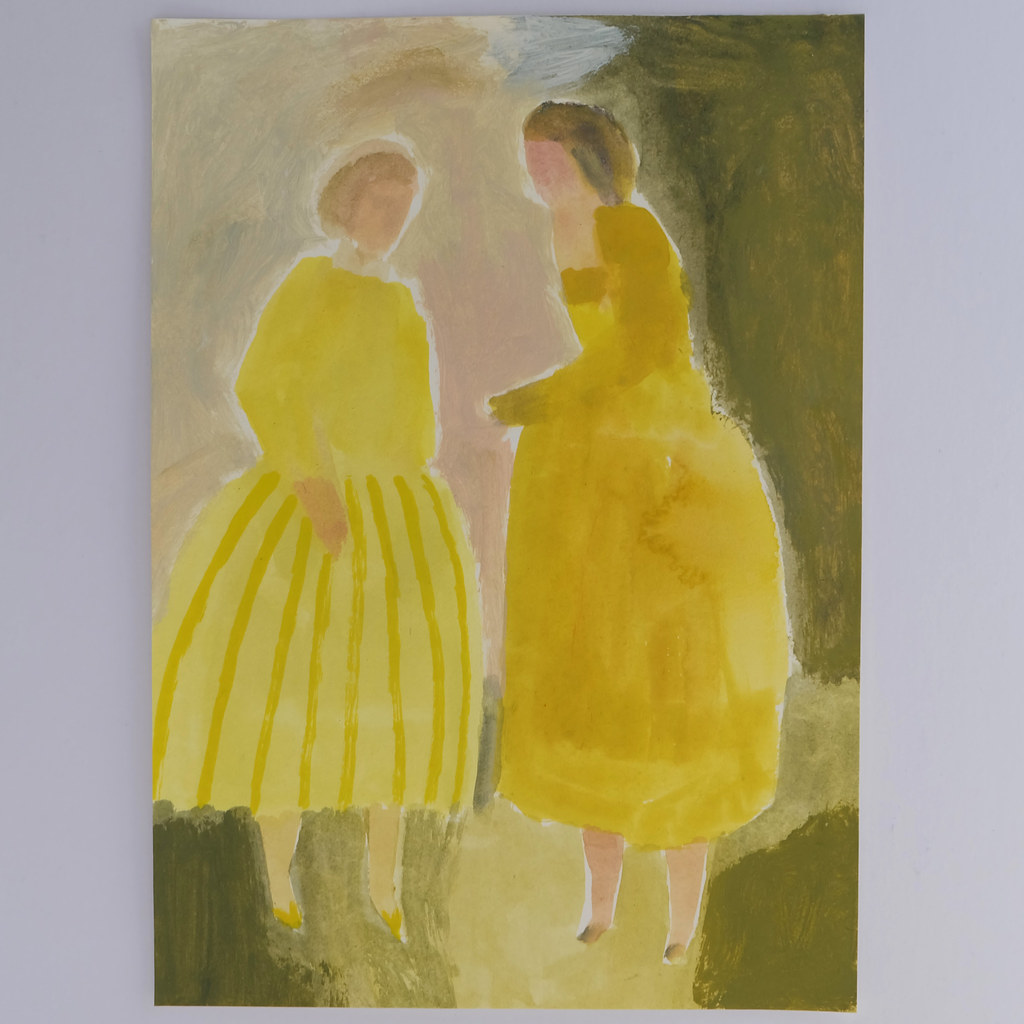 two yellow figures