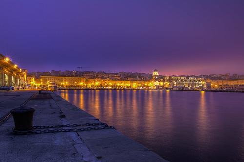 city sunset italy history port dock harbour croatia slovenia trieste adriaticsea photomatix gulfoftrieste