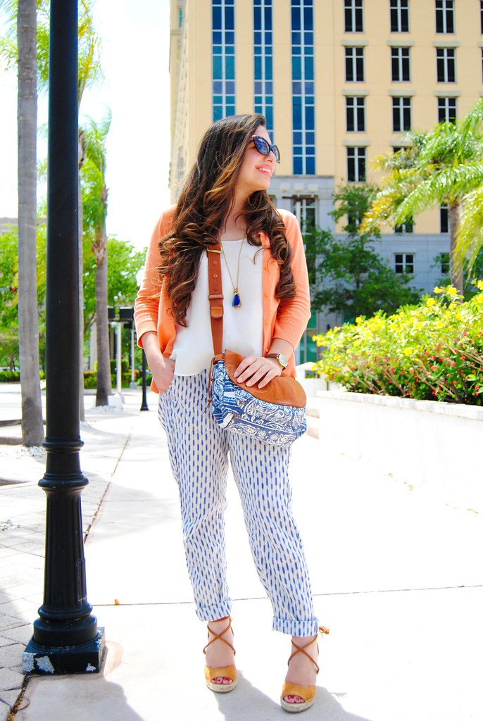 casual boho chic print mixing