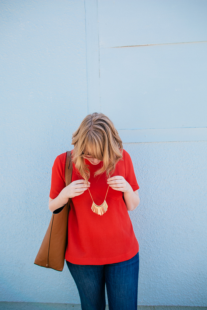 madewell button back shirt5