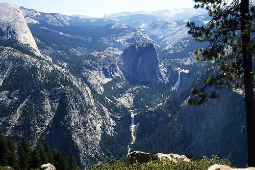 california park kodak nevada falls national yosemite vernal slides ektachrome