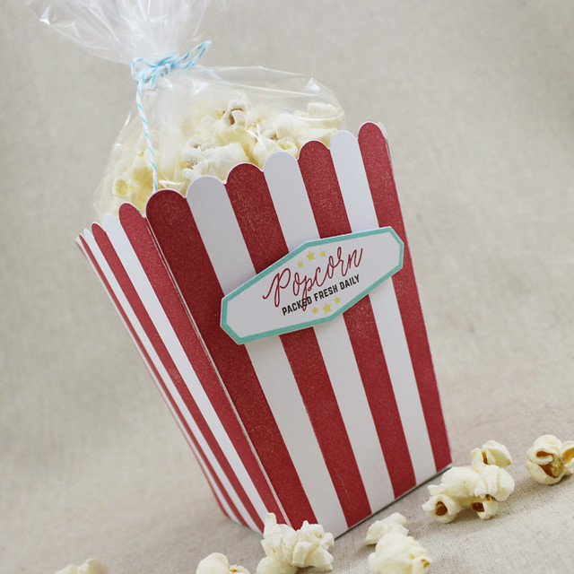 Packed Fresh Popcorn Bucket Close Up