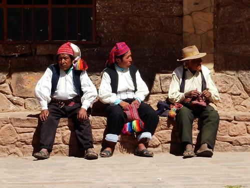 Locals in Taquile Island