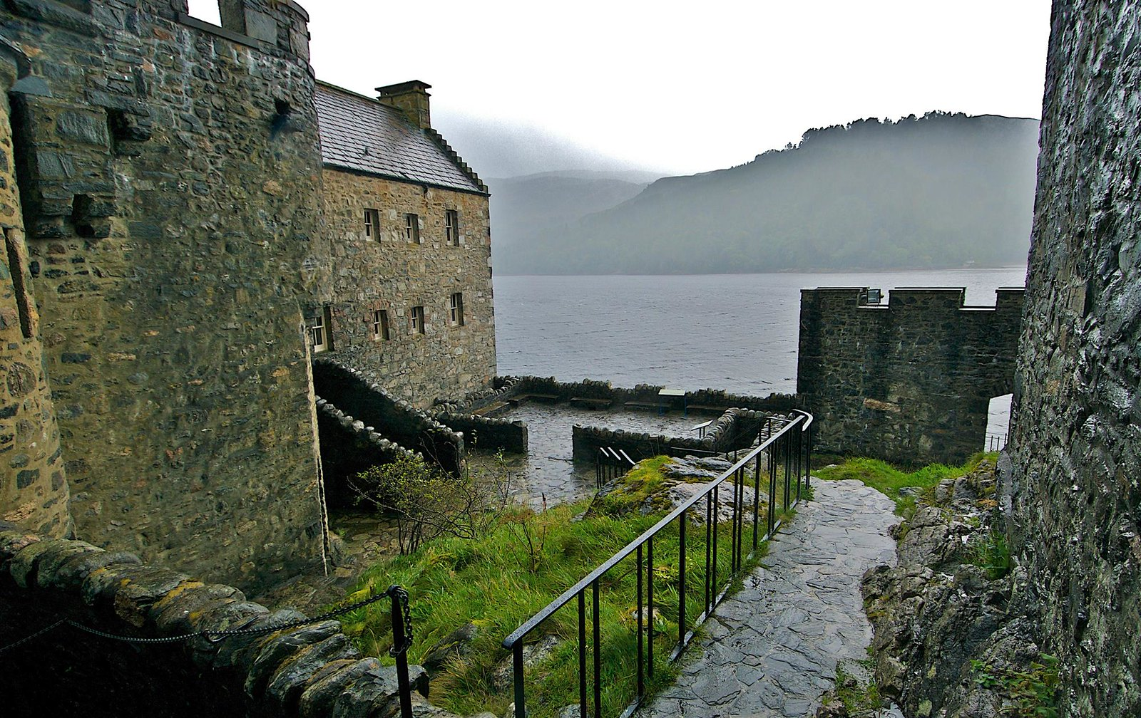 Looking west from within Eilean Donan Castle. Credit Bruce MacRae