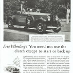 Thu, 2016-04-28 10:09 - The 1930 Edition of the Studebaker President Eight had many engineering advancements, including eliminating the need to use the clutch except to start or back up, 'the first car created, which a woman can drive all day, yet leave serene and fresh as when she entered it.'  The advertisement appeared in the August 4, 1930 edition of TIME, The Weekly Magazine. Please do not use this image in any media without my permission. © All rights reserved.