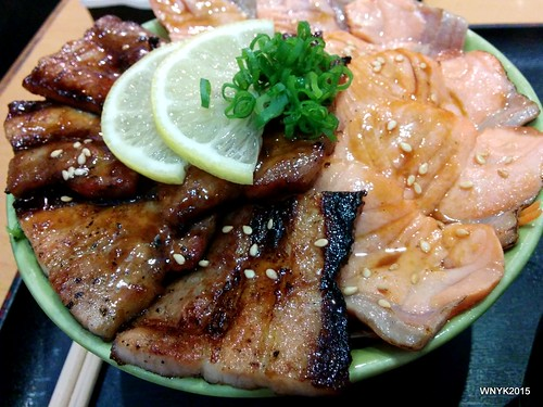Pork and Salmon Don