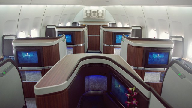 Onboard B747-400 First Class - Cathay Pacific