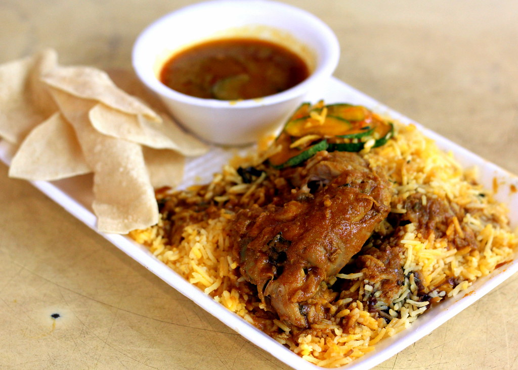 Downtown MRT Line Hawker Food: Tekka Centre Allauddins Briyani
