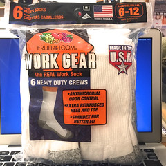 FRUIT OF YHE LOOM:WORK GEAR 6 HEAVY DUTY CREWS(A)