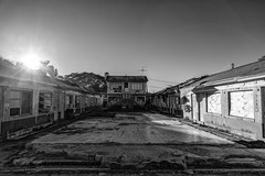 empty, abandoned motel