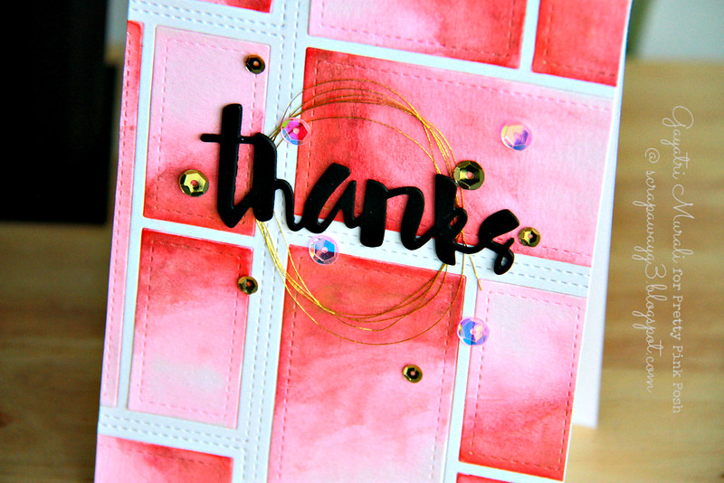 Thanks card closeup