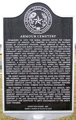 Photo of Armour Cemetery black plaque
