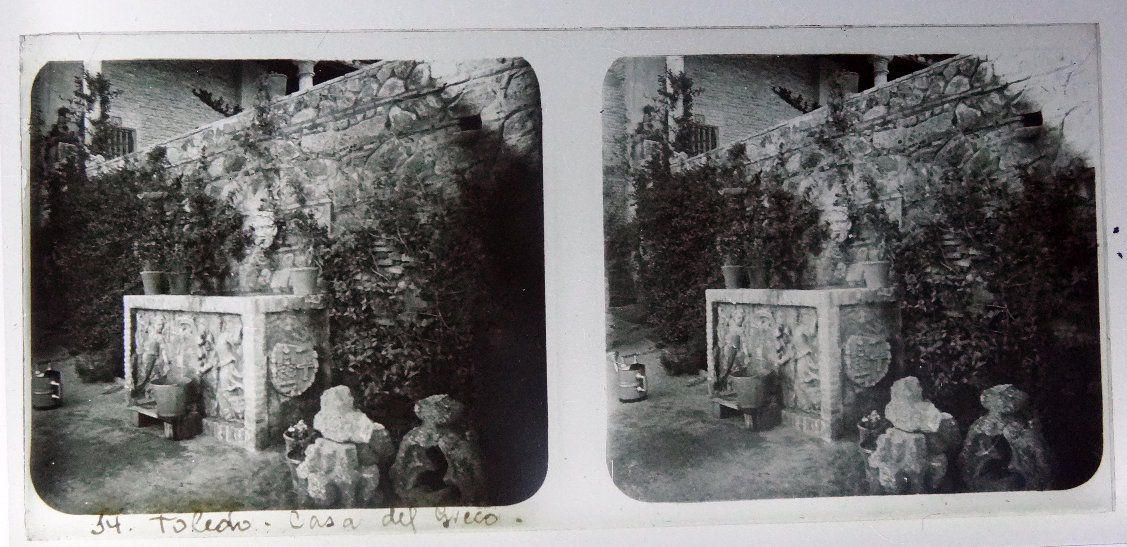 Casa del Greco, jardín. Fotografía de Francisco Rodríguez Avial hacia 1910 © Herederos de Francisco Rodríguez Avial