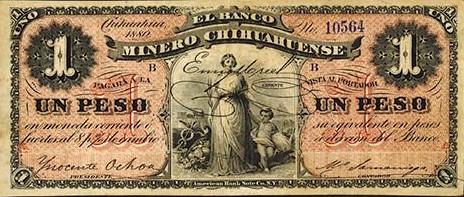Lot 243 Chihuahua, Mexico, 1880, 1 Peso