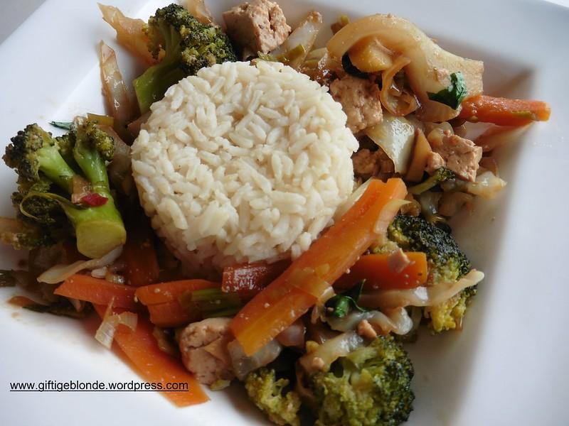 Gemüse, Tofu, Reis
