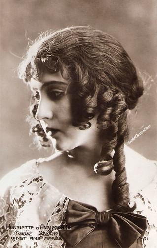 Simone Vaudry in Vingt ans après (1922)