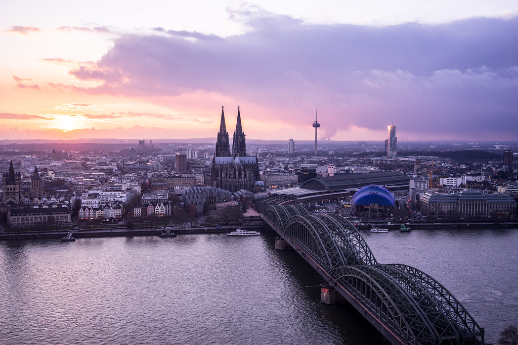 Cologne Koln Germany Sunset