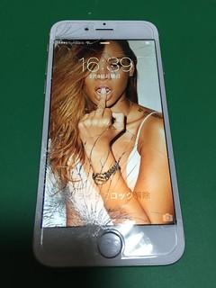 42_iPhone6のフロントパネルガラス割れ