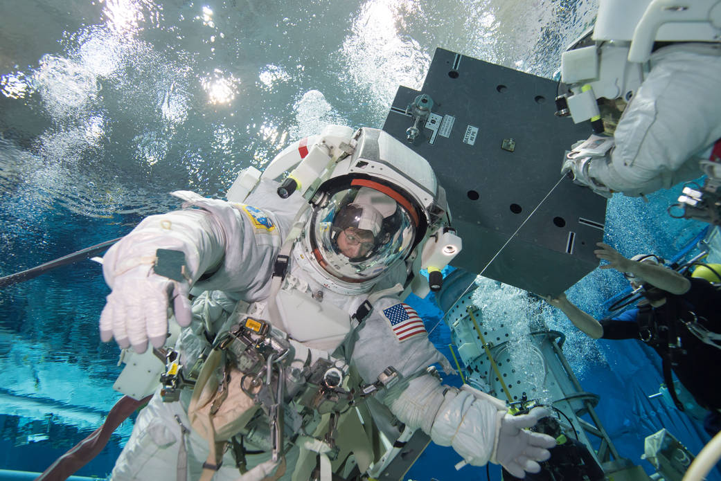Astronaut Peggy Whitson Trains For a Spacewalk