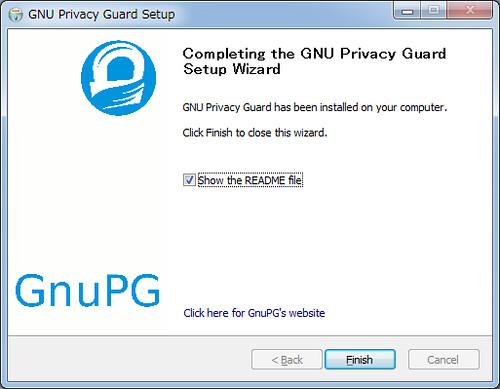 Installing GnuPG for Windows (7)