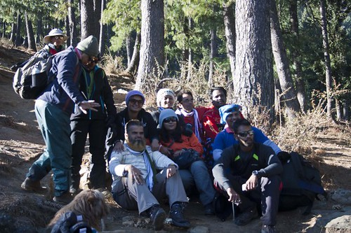 During Kedarkantha Summit 2016 in Winter , Uttrakhand, India