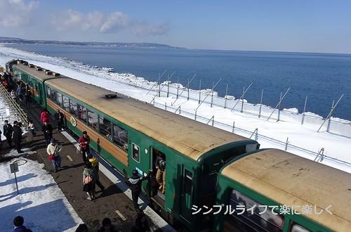 流氷、ノロッコ号・北浜駅展望台