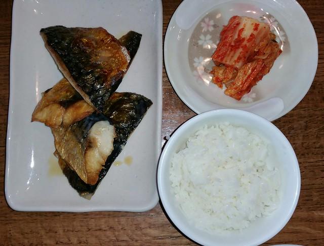 2016-Mar-9 Kosoo - mackerel, kimchee