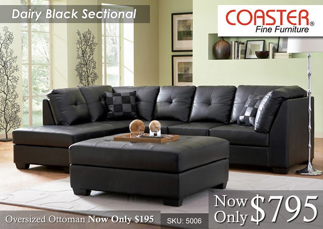 Dairy Black Sectional