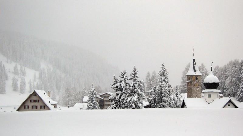 Lenzerheide Schnee Aussicht