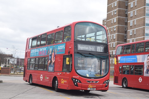 Blue Triangle WVL497 on Route EL2, Becontree Heath